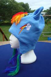 Rainbow Dash Hat by NerdyNeedles