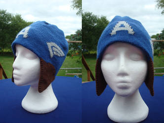 Captain America Inspired Hat by NerdyNeedles