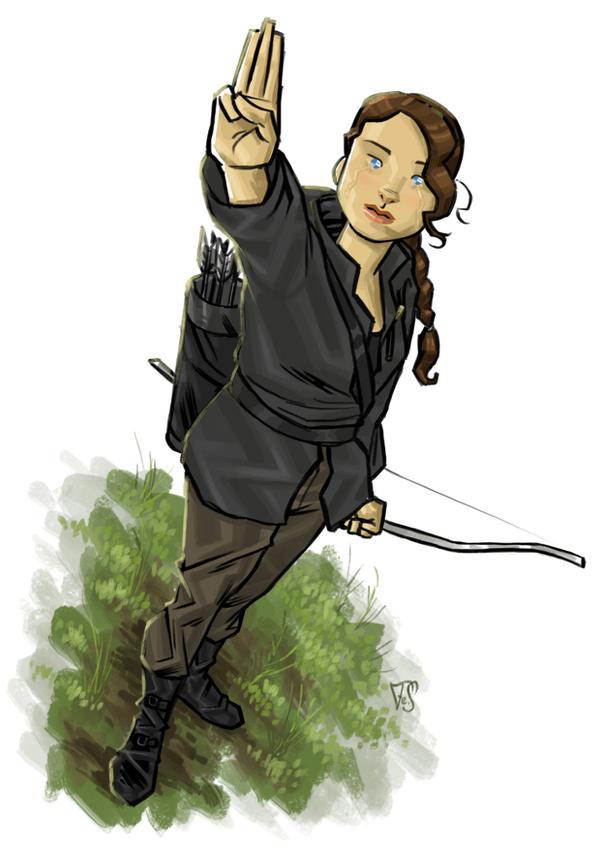 katniss everdeen  fan art  by PsoaKatniss Everdeen Fan Art