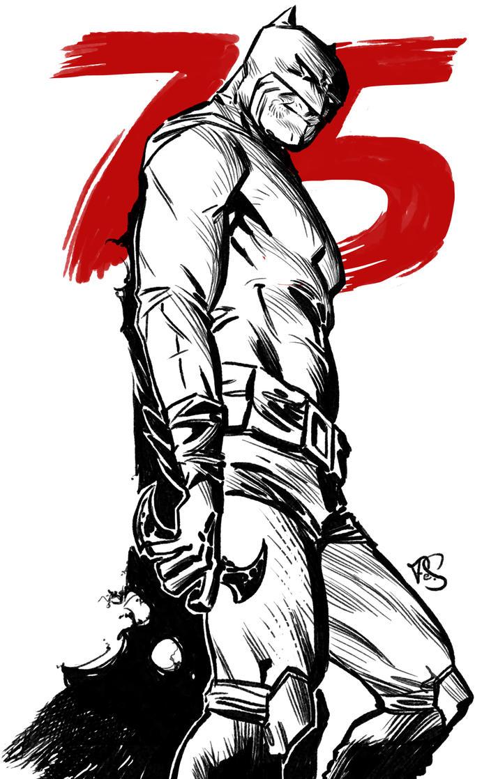 Batman 75th Anniversary by Psoa