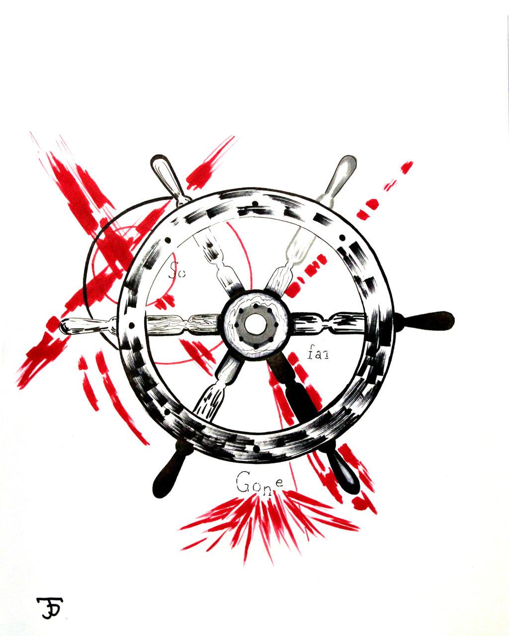Trash Polka Skull By Mcrdesign On Deviantart: Trash Polka Ship Wheel By Jdelmontetattoos On DeviantArt