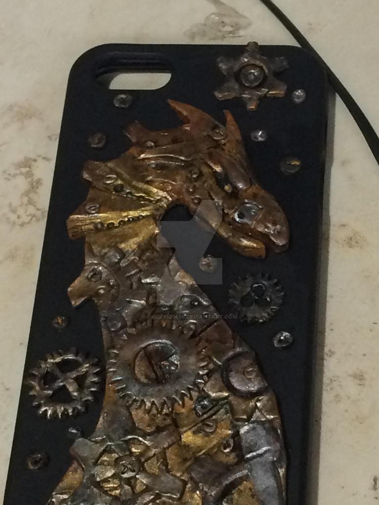 Steampunk Dragon Phonecase by skippy123456