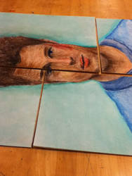 Brad Pitt, pastel by angel-jolie