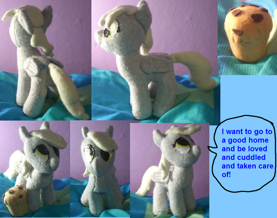 Derpy Hooves Plush With Muffin :.  **SOLD** by Who-Butt