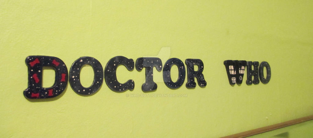 Doctor Who Wall Art Letters! *FOR SALE* by Who-Butt on DeviantArt