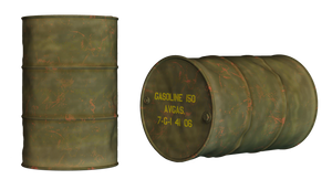 Oil Drum PNG Stock by Roy3D