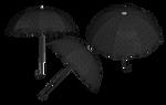 Steampunk/Gothic Umbrella PNG Stock