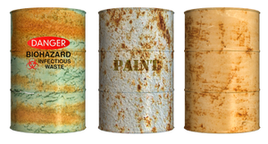 Rusty Drums PNG Stock