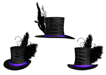Hat Collection 02 PNG Stock by Roy3D