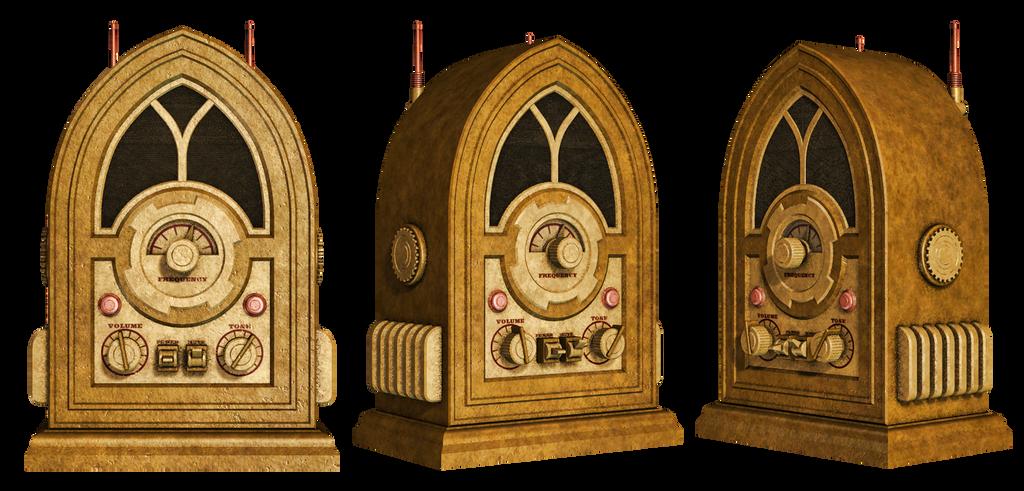 Steampunk Radio PNG Stock