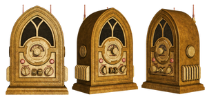 Steampunk Radio PNG Stock