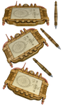 Steampunk Tablet and Pen PNG Stock