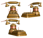 Steampunk Telephone PNG Stock