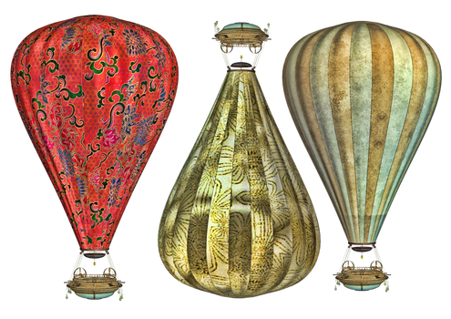 Steam Balloon PNG Stock