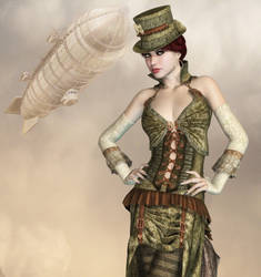 Steampunk Fashion by Roy3D