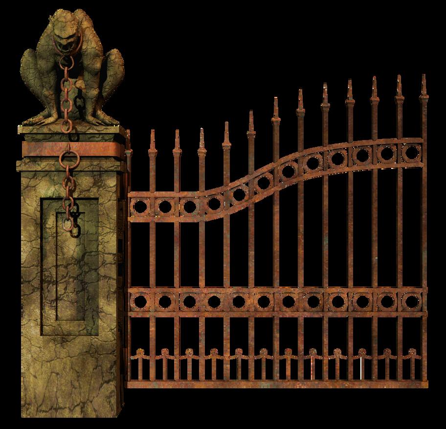 Graveyard Gate Left Png Stock