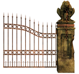 Graveyard Gate Right PNG Stock
