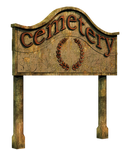 Cemetery Sign 2 PNG Stock