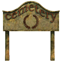 Cemetery Sign PNG Stock by Roy3D