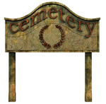 Cemetery Sign PNG Stock