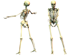 Spooky Skeleton 03 PNG Stock by Roy3D