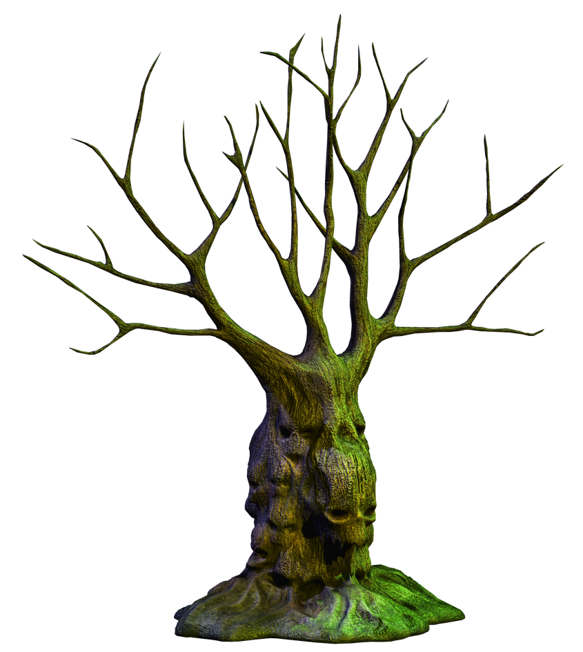 Spooky Tree 04 PNG Stock by Roy3D