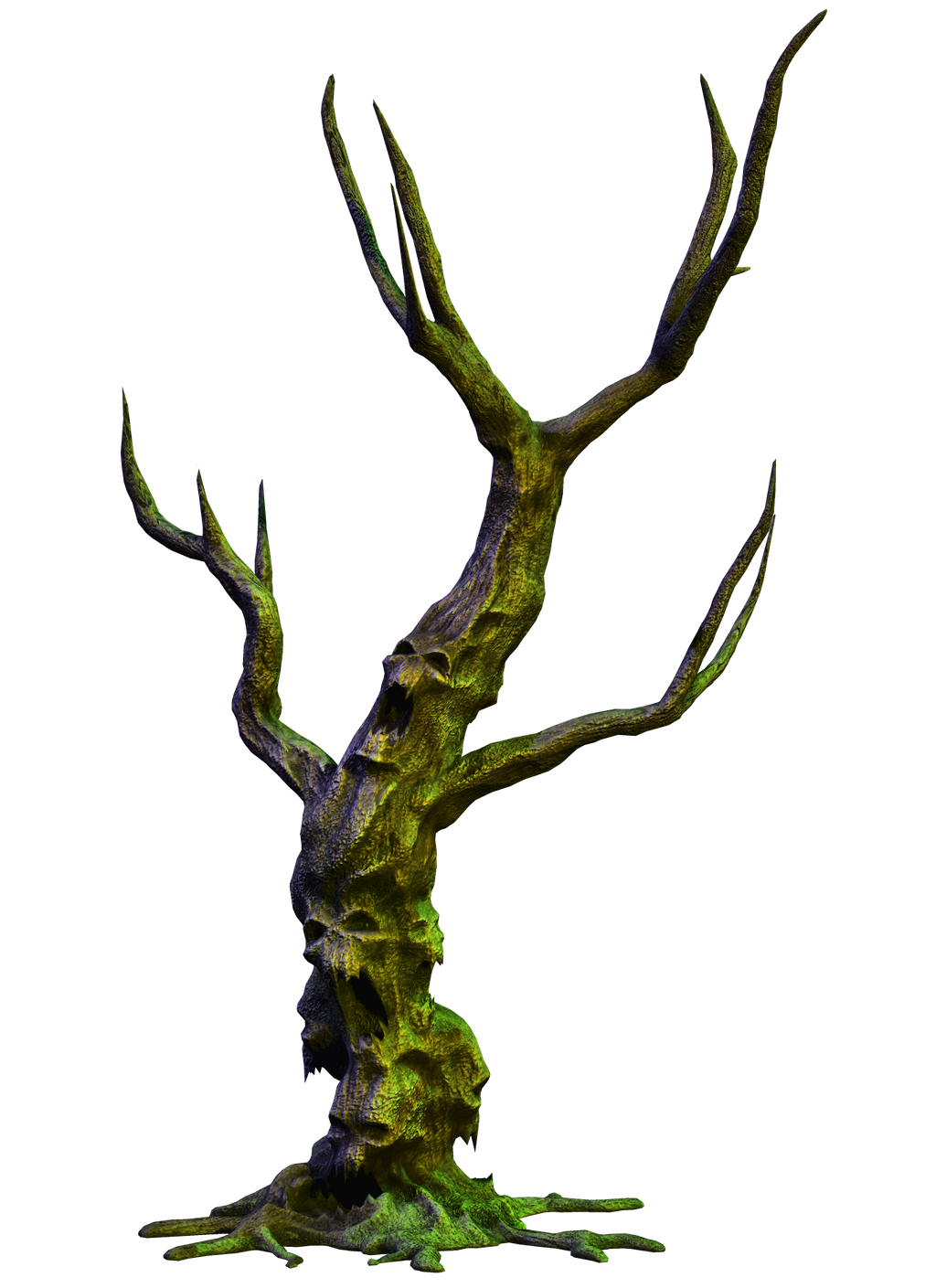 Spooky Tree 05 PNG Stock