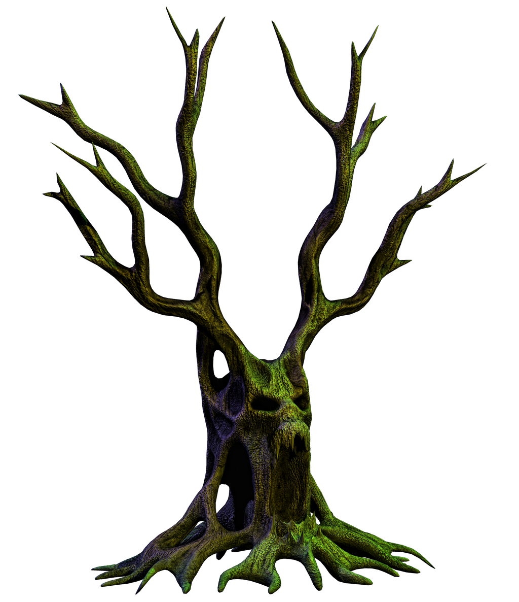 Spooky Tree 06 PNG Stock by Roys-Art
