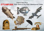 These And Many More In My PNG Steampunk Stock