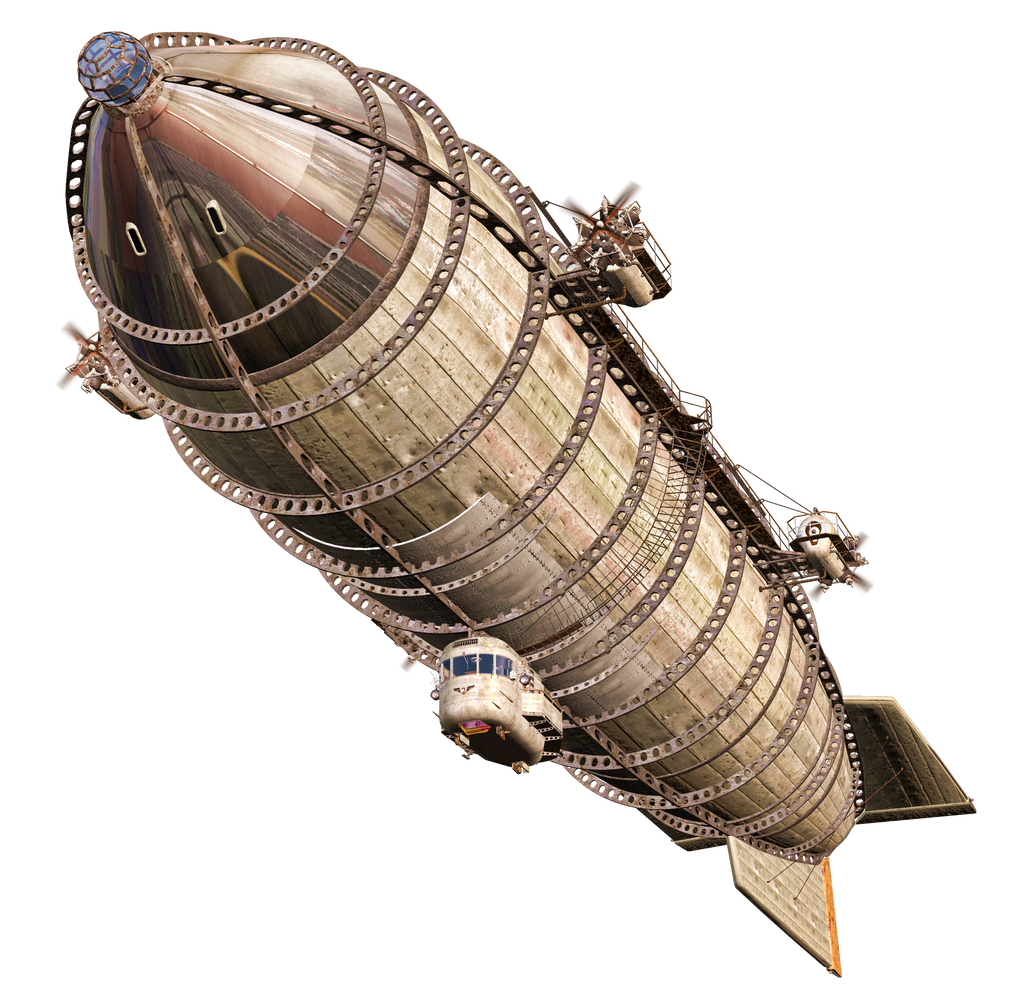 Steam Airship 01 PNG Stock
