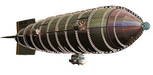 Steam Airship 02 PNG Stock