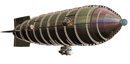 Steam Airship 02 PNG Stock by Roy3D
