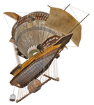 Steam Airship 04 PNG Stock