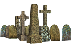 Graves 14 PNG Stock by Roy3D