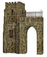 Tower And Arch PNG Stock by Roy3D