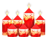 Christmas Candles PNG Stock