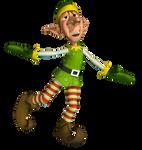 Christmas Elf 2 PNG Stock