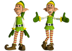 Christmas Elf PNG Stock