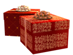 Christmas Gift Boxes PNG Stock