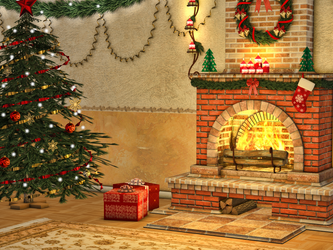 Christmas Scene Premade Background by Roy3D