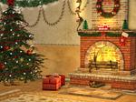 Christmas Scene Premade Background