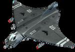 Fantasy Jet Fighter 02 PNG Stock