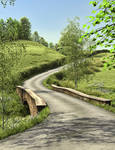 Country Lane 2 Premade Background