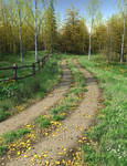 Country Lane Autumn Premade Background