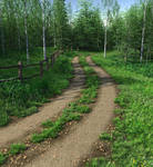 Country Lane Summer Premade Background