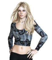 Female 35 PNG Stock by Roy3D