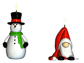 Christmas Candles PNG Stock by Roy3D