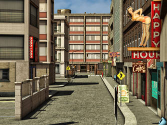 City 1 Premade Background by Roy3D