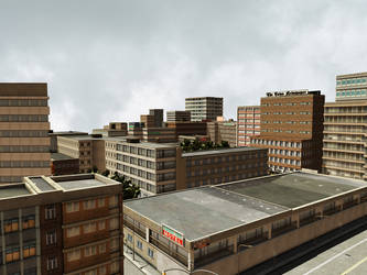 City 2 Premade Background by Roy3D