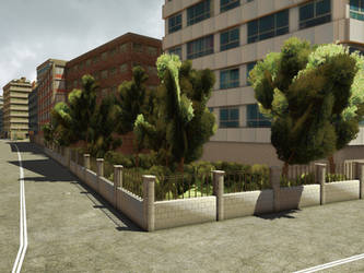 City 4 Premade Background by Roy3D